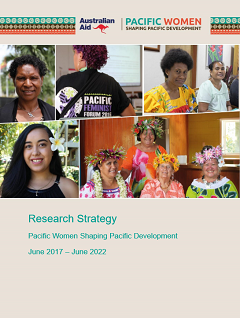 <em>Pacific Women</em> Research Strategy June 2017 – June 2022