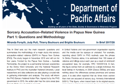 Sorcery Accusation Related Violence in Papua New Guinea