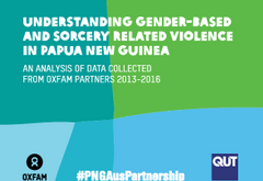 Gender-Based and Sorcery-Related Violence in Papua New Guinea: An analysis of data collected from Oxfam partners 2013-2016