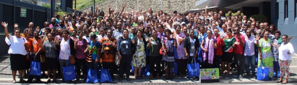 Participants of the Pacific Women Papua New Guinea Annual Learning Workshop 2019.