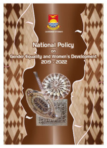 The cover of the Kiribati Gender Equality and Women's Development policy.
